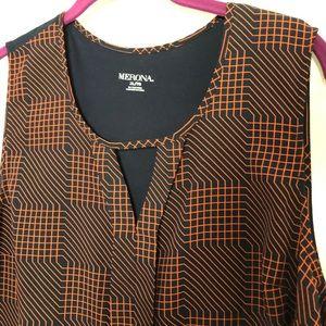 Merona patterned sleeveless blouse